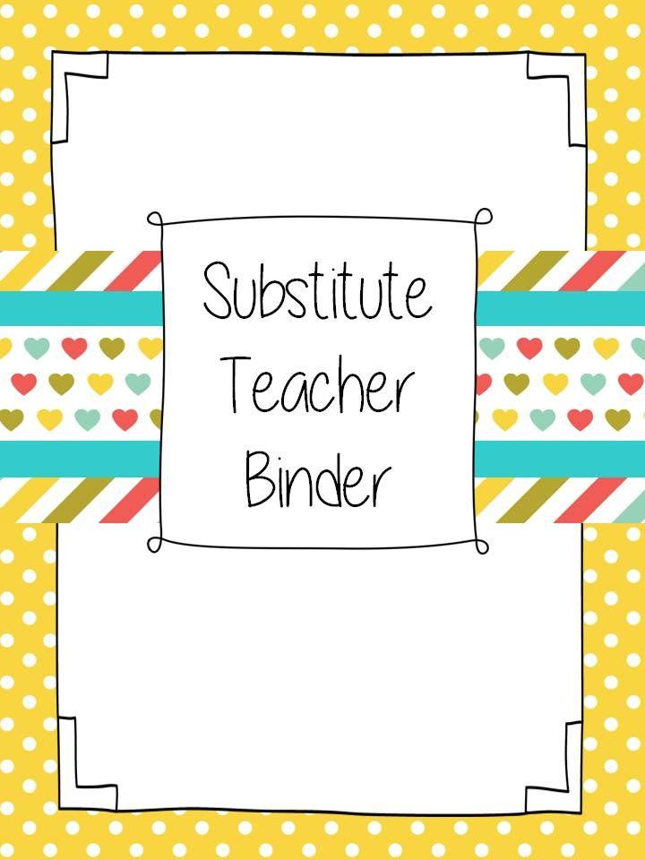 1000 Ideas About Substitute Teacher Binder On Pinterest
