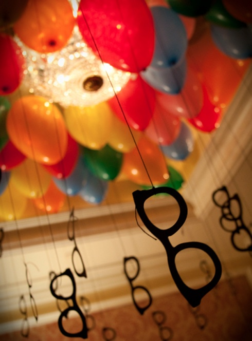 Make these and add some canes... great 40th Bday party decor. :)