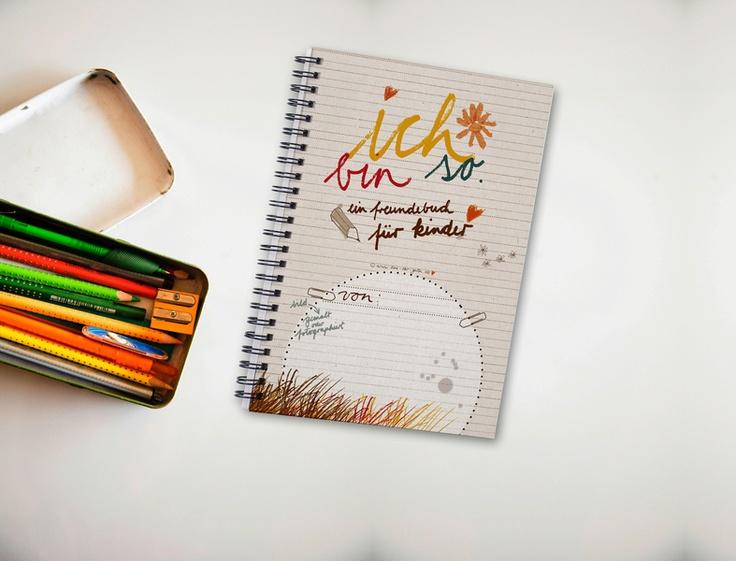 Freundebuch für Kinder 'Ich bin so' A5 - FÜR KINDER & BABIES von Eine-der-Guten-Illustration - Bücher - Schule & Lernen - DaWanda