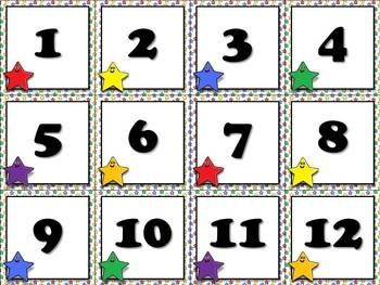 Calendar Number Cards - Numbers 1-31 - Superstars Theme - Starmen ...