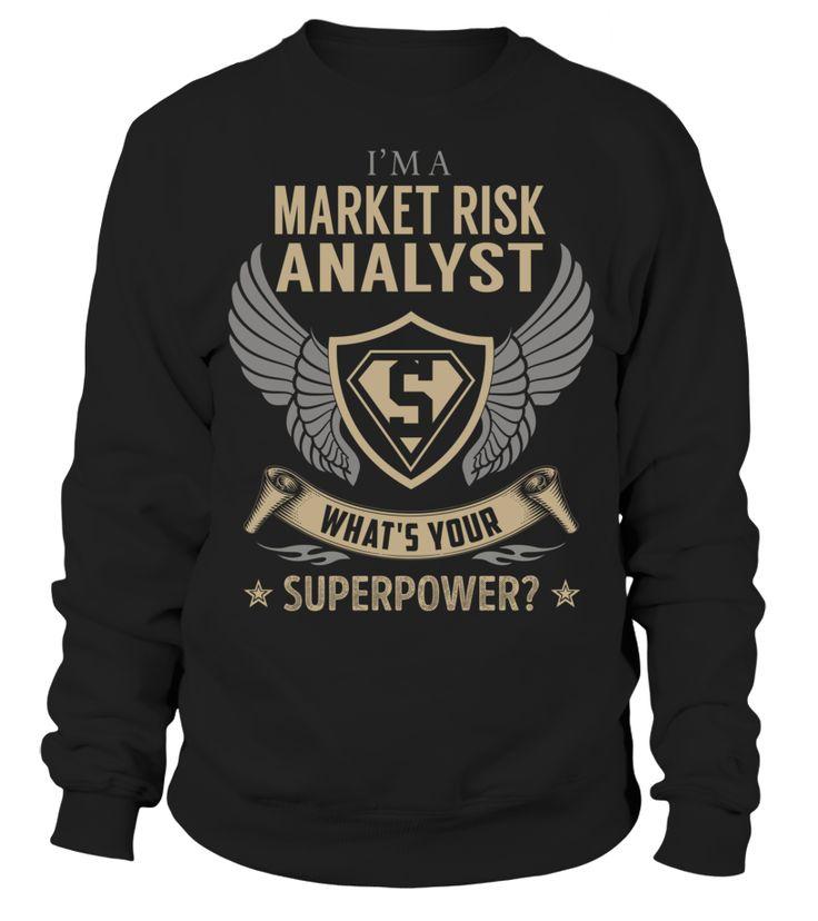 Market Risk Analyst Superpower Job Title T-Shirt #MarketRiskAnalyst