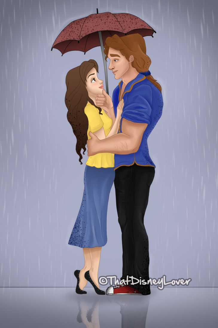 Prince-Princess Series: Belle and Beast by ThatDisneyLover on