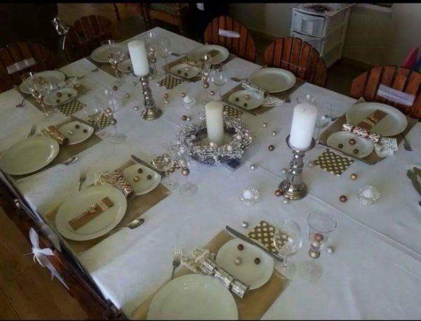 Świąteczne nakrycie stołu...BAŁWANKOWO...
