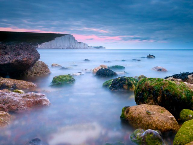 Seven Sisters Cliffs, Cuckmere Haven Beach, East Sussex, England - Webshots