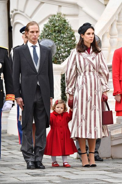 Tatiana Santo Domingo Photos Photos - (L-R) Andrea Casiraghi, his daughter India and Tatiana Santo Domingo attend the Monaco National Day Celebrations in the Monaco Palace Courtyard on November 19, 2016 in Monaco, Monaco. - Monaco National Day 2016