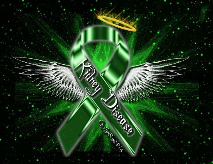 Kidney Disease Ribbon Angel Awareness Ribbon Angels
