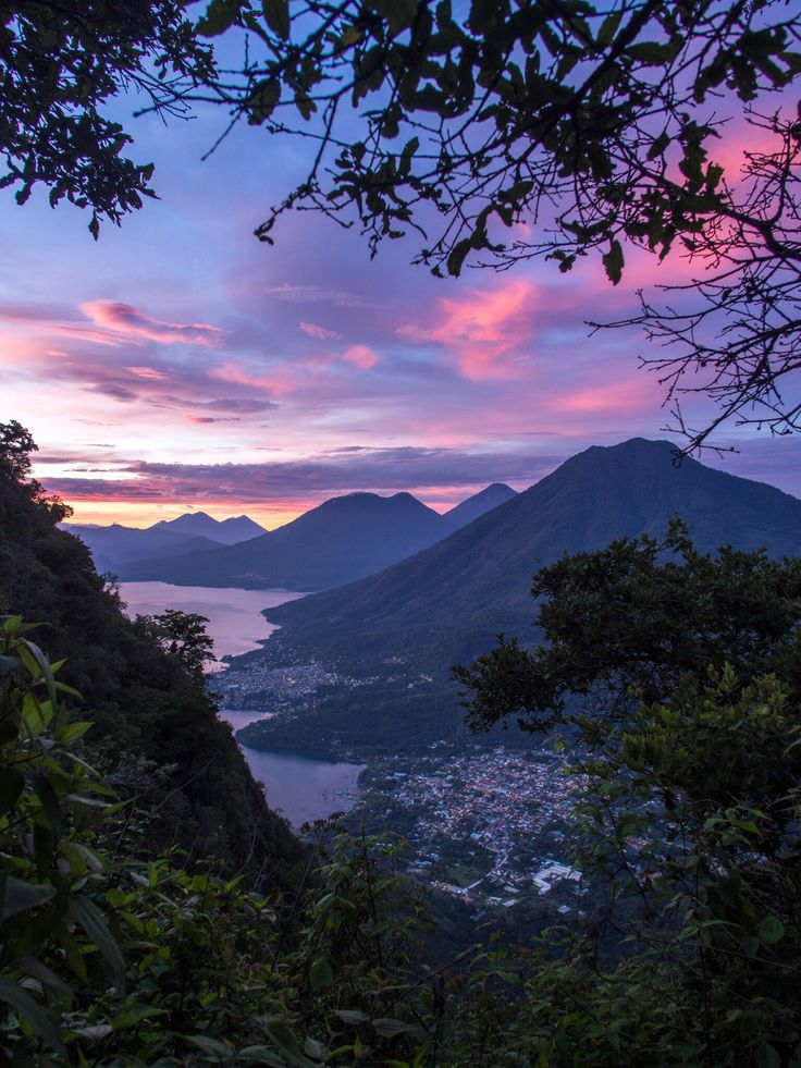 Lake Atitlán, Solola, Guatemala - Hiking up near the peak at the Indian Nose in Lake Atitlan, Guatemala. You can start the hike from San Pedro or there is the option to get a bus to the base of the hill and hike up in time for sunrise.   More information at at Jimmyeatsworld.com