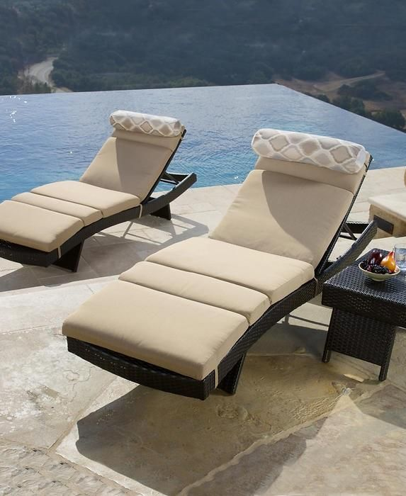 the portofino comfort deluxe 3piece chaise lounge set is the ultimate in comfort and
