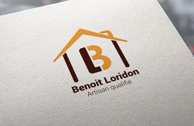 Logotype réalisé pour une micro-entreprise qui démarre son activité dans le bâtiment.