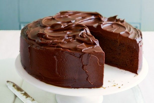 Impress your guests with this classic chocolate mud cake.