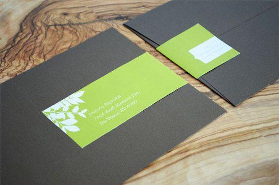 Benutzerdefinierte Wraparound Adress-Adressetiketten - Bonita-Hochzeit-Etiketten, Blätter, Bio, Baby Shower, niedlich, Phantasie, einfache, ...