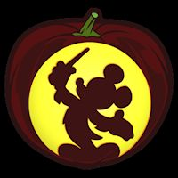 Conductor Mickey CO - Stoneykins Pumpkin Carving Patterns and Stencils