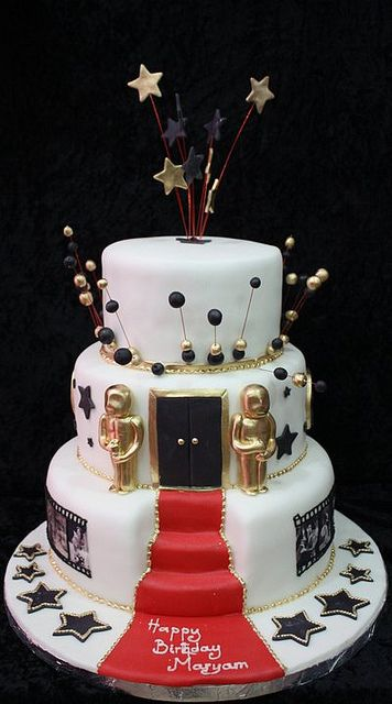 hollywood theme cake by The House of Cakes Dubai, via Flickr