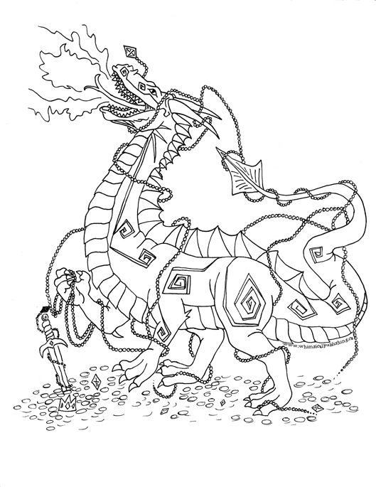 Magic Dragon Coloring Pages Printable. Magic. Best Free Coloring Pages