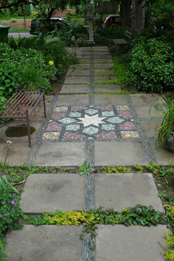Backyard stepping stone ideas - Jeffrey Bale S World Of Gardens Search Results For Mosaic Stepping Stones