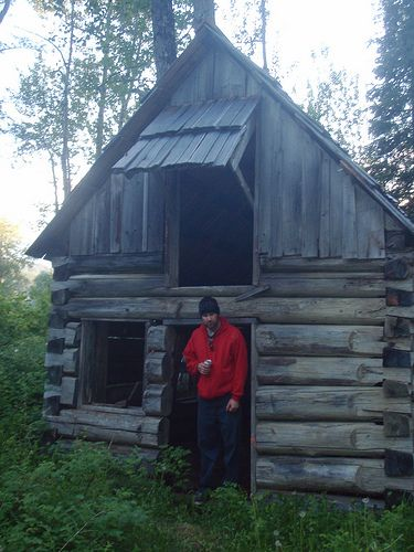 Old Gold Rush Cabin at Quesnelle Forks, BC