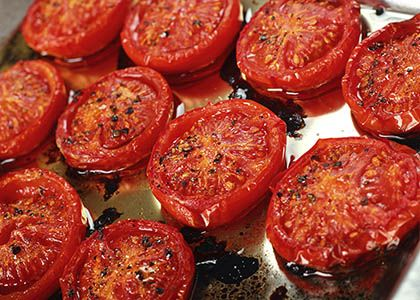 Easy Slow-Roasted Balsamic Glazed Tomatoes