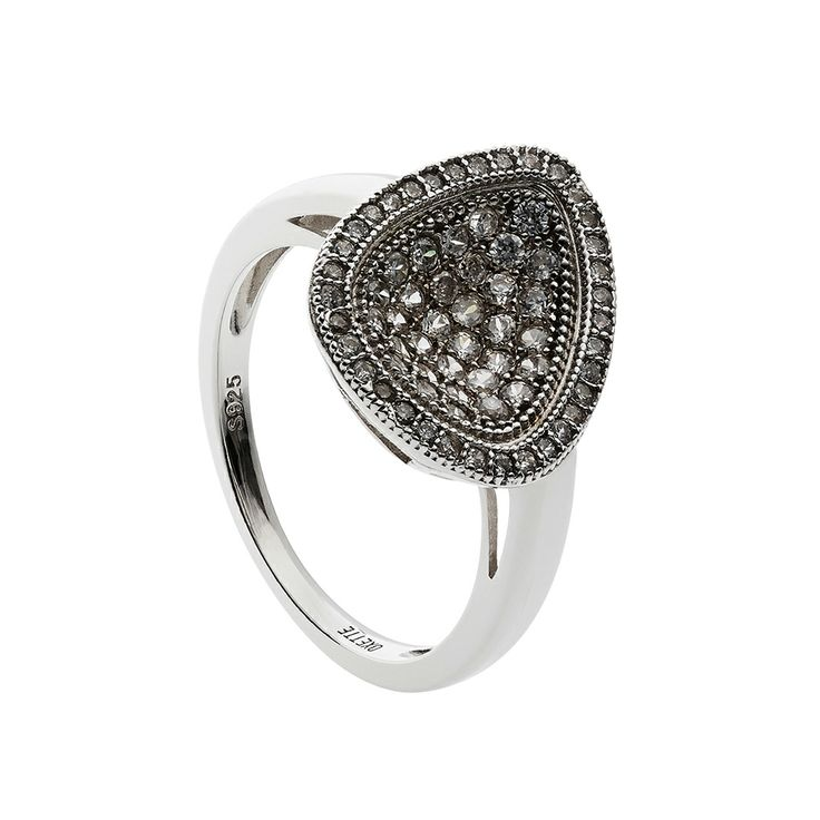 Oxette Rose Gold Silver 925 Ring with zircons - Available here http://www.oxette.gr/kosmimata/daktulidia/silver-ring-drop-with-cz-oxette-640l-1/   #oxette #OXETTEring #jewellery