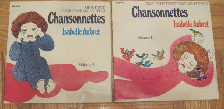 3 VINTAGE ISABELLE AUBRET CHILDRENS FRENCH SONGS Chansonnettes 7'' 45 rpm record