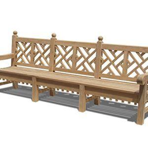 Churchill Teak Chippendale Style Lattice Bench ...
