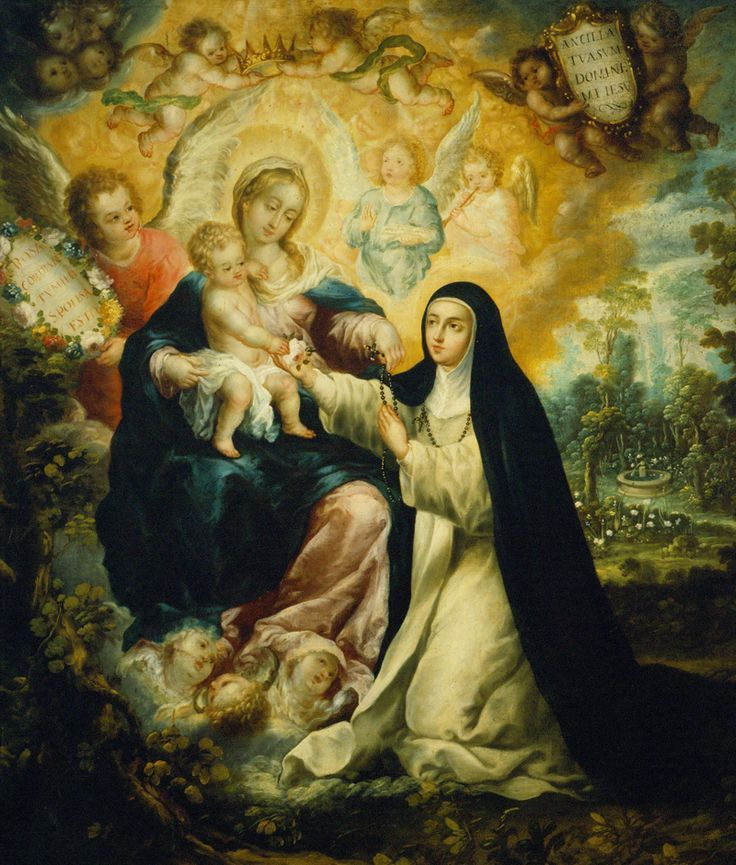 After reading about St. Catherine of Siena, St. Rose considered her a worthy model.  She would fast at least three times a week and would secretly add severe penances.  When she was admired for her beauty she cut her hair or disfigured her face in order to avoid the temptation to vanity.  She receiv
