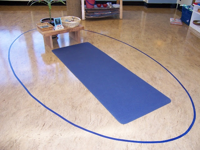 Yoga in a Montessori classroom------ I can't wait to set this up in my classroom! My kids and I already do yoga so they will LOVE this!