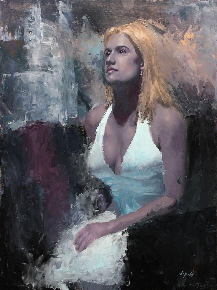 Light Blue Dress 16 x 12 Oil on Panel www.jphfinearts.net  Special thanks to @robertwellingsart for giving critiques throughout this process.