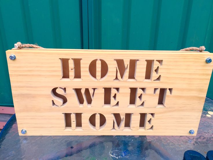 Home Sweet Home Wood Sign with LED BackLights.