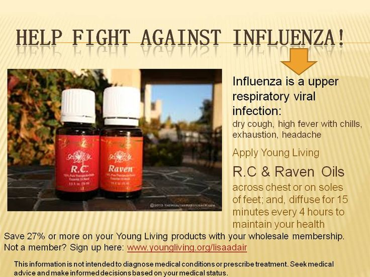 Stay healthy during the holidays and help fight against influenza with Young Living Raven and RC essential oils. Keep breathing easy and avoid the influenza virus.