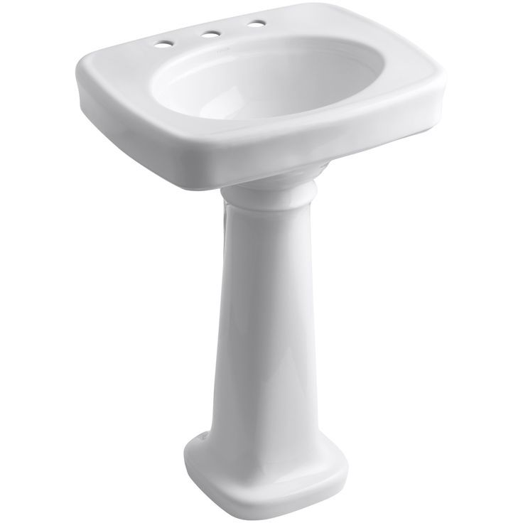 Bancroft Ceramic 24 Pedestal Bathroom Sink Bancroft Bathroom