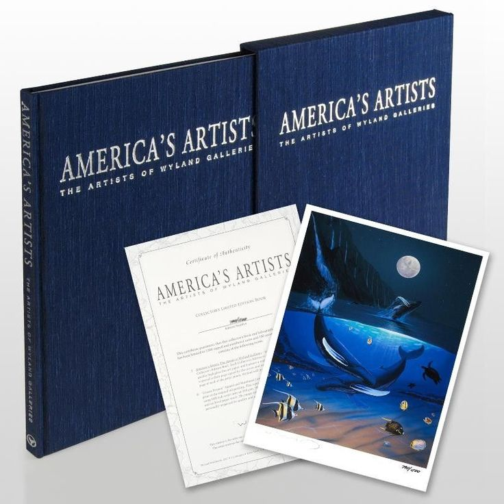America's Artists: The Artists of Wyland Galleries - Limited Edition Collector's Fine Art Hardcover Book by Wyland