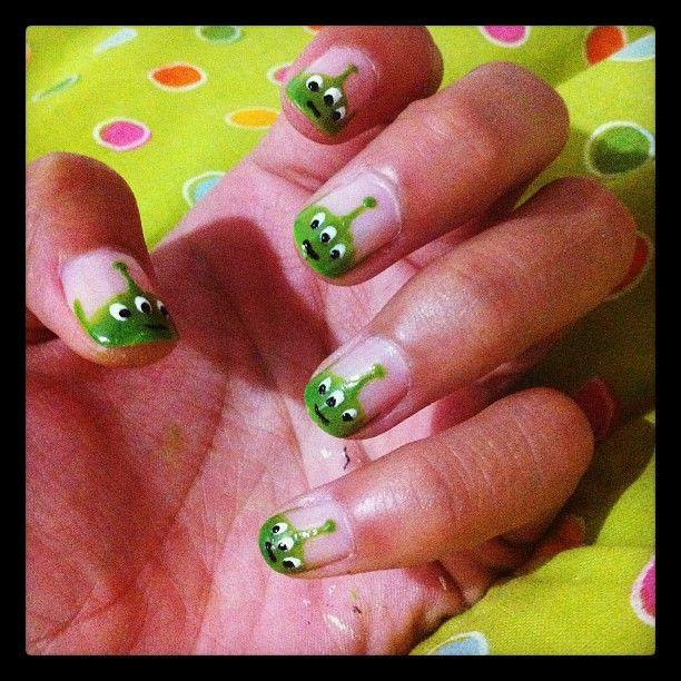 Marcianitos de Toy Story, lindo lindos! #Nails