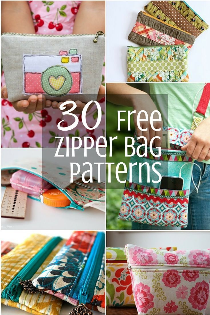 Zipper bags are always fun and easy to stitch up. Check out this Mega list of free zipper bag patterns.