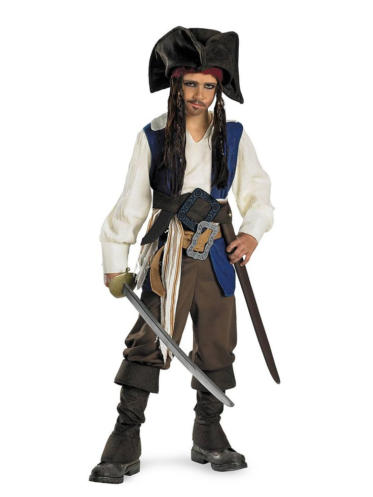 Child Captain Jack Sparrow Deluxe Costume - Boys TV and Movie Halloween Costumes