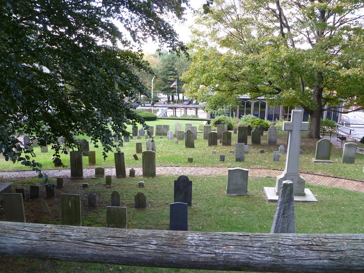 Graveyard at Cathedral of St John Episcopal, Providence, RI where E.A. Poe used to walk with other writers.