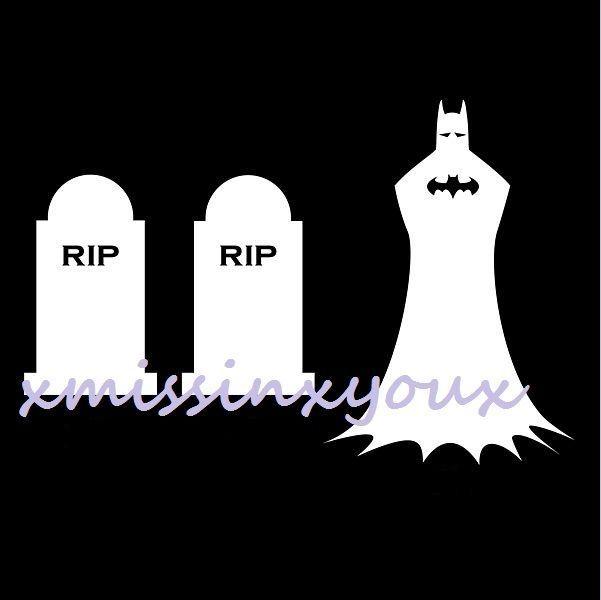 Batman Family Vinyl Decal Sticker Funny Comic Stick In Memory - Batman vinyl decal stickers