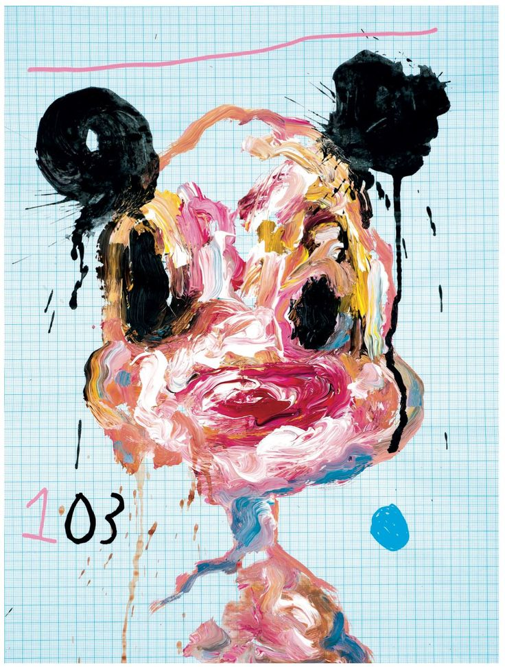 103 - Acrylics on graph paper_280 x 370 mm