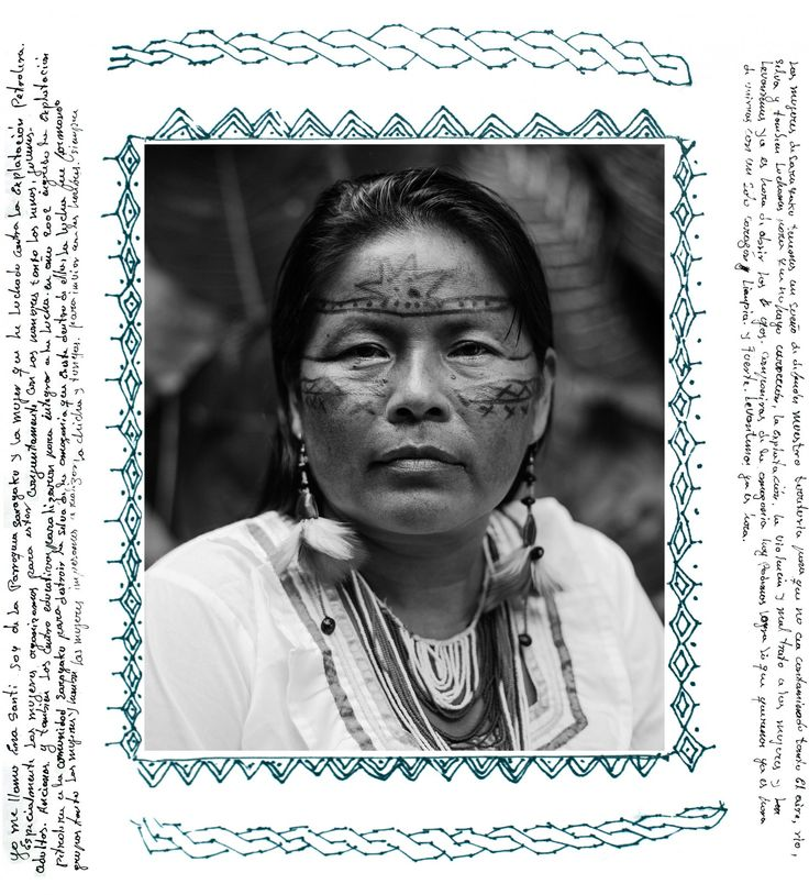 """#idlenomore Guardians of life: The indigenous women fighting oil exploitation in the Amazon - """"My name is Ena Santi. I'm from the parish of Sarayaku women who have fought against oil exploration. Especially women to be jointly organized with male children, youth, adults, seniors. Rise up, it is time to open your eyes. It is time to come together with one clean and strong heart. Rise up, it's time."""" (Felipe Jacome)"""