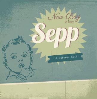 Sepp Retro, jongen, groen, stoer