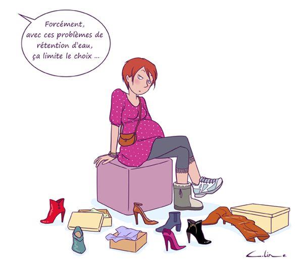 Ma grossesse vs mes chaussures... par Céline Théraulaz sur Guide Maman Bébé