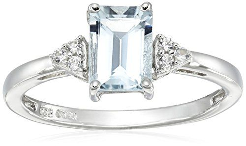 Sterling Silver Emerald Cut Aquamarine and Round Created White Sapphire Ring, Size 7 Amazon Collection http://www.amazon.com/dp/B00RJNEWS2/ref=cm_sw_r_pi_dp_LNTYvb1GTQS59