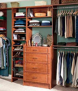 Closet idea: 3 deep drawers in middle, then shelves all the way up like the area for mirror and jewelry. one side long for dresses, with two bottom rows for boots and then one other side double racks.  USE FOR SHELF MIRROR/Jewlery AREA