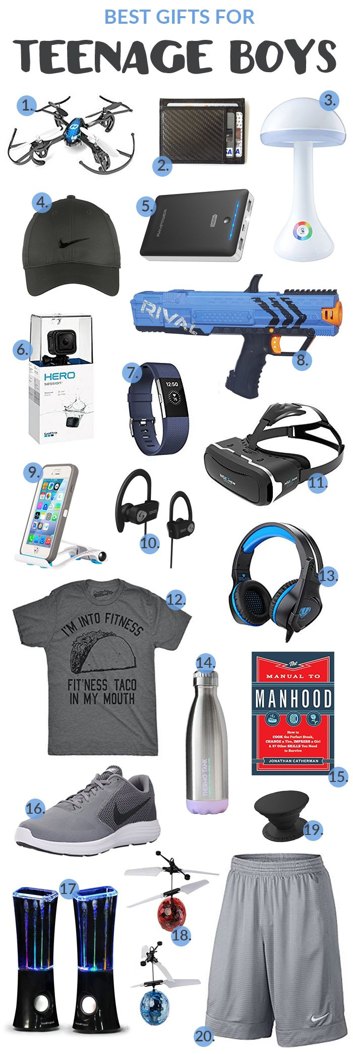 Teenage Boy Gift Guide - Need ideas for what to get a Teenage Boy for a gift for Christmas, his birthday, or any other occasion?  The best gift idea for him? We've rounded up some great Teenage Boy Gift Ideas for you here. Teenage boy gift ideas for boyfriend, son, nephew, brother, etc.  Here are some great Gift ideas for Teenage Boys