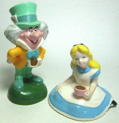 Alice in Wonderland and Mad Hatter salt and pepper shaker set