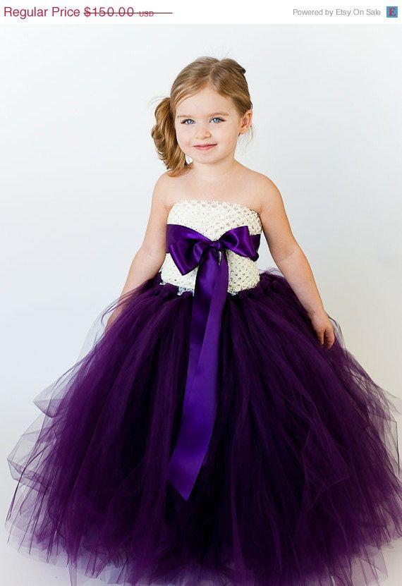 20 OFF SALE Jillian Flower Girl Tutu Dress by TheLittlePeaBoutique