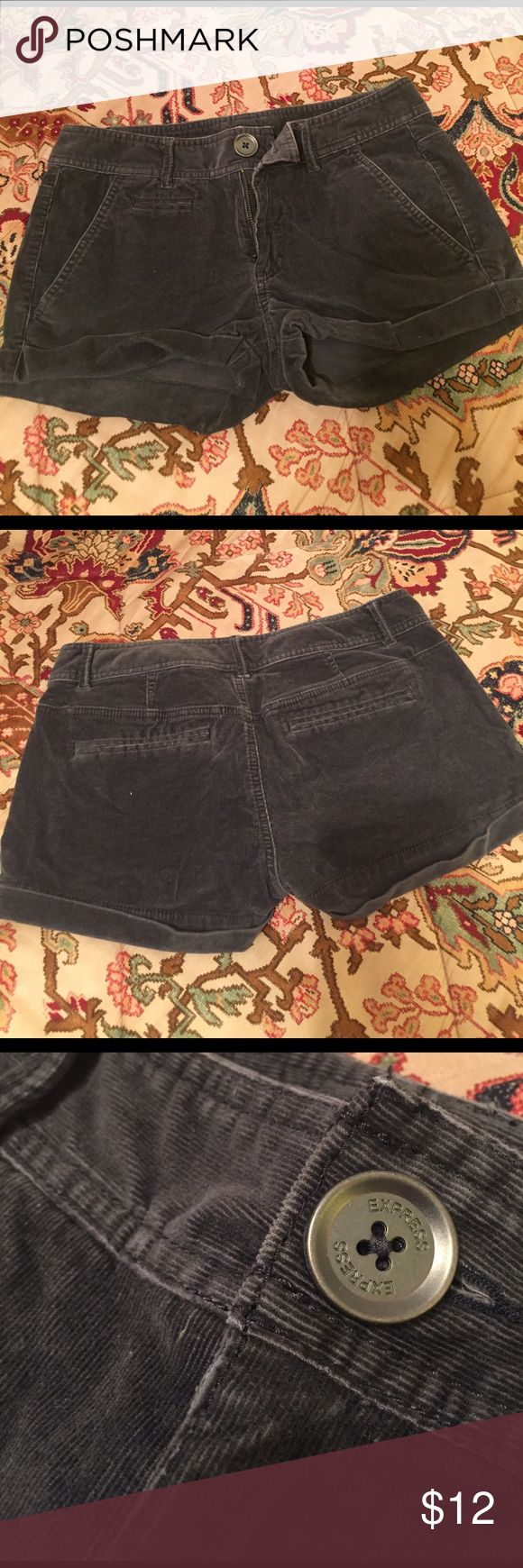 Coloroid Express gray shorts Express coloroid gray shorts Express Shorts