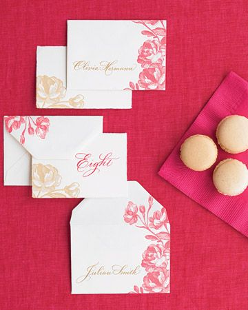 Pink and gold damask style stationery