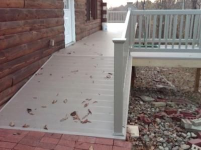 building a wheelchair ramp on a deck | Ramp for handicap access - Accessories Photo Gallery - Archadeck of ...
