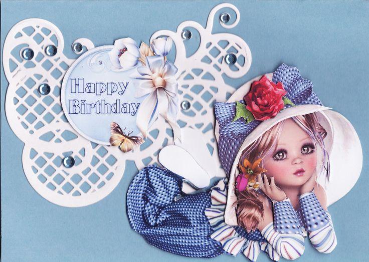 3D beautiful girl card (by Tassie Scrapangel)