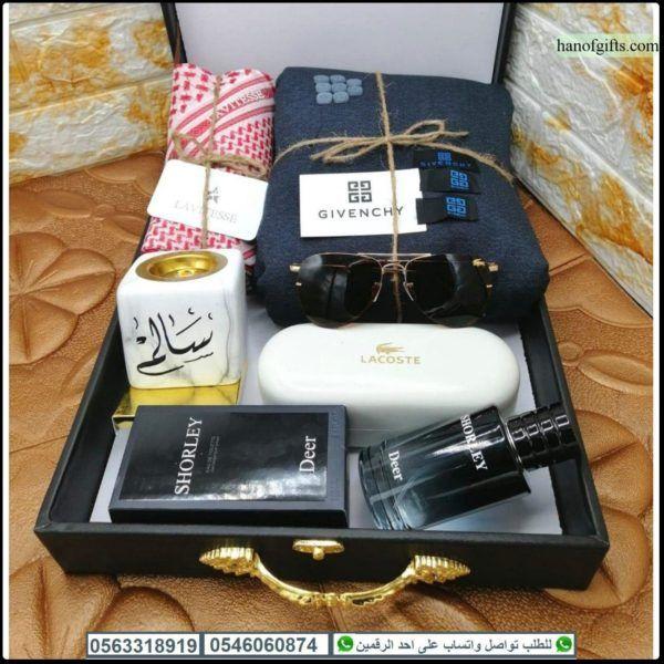 قماش جفنشي رجالي مع شماغ و نظاره لاكوست و مبخره بالاسم و عطر دير هدايا هنوف Gifts Gift Wrapping Wrap